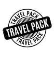 travel pack rubber stamp vector image vector image