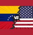 usa versus venezuela flag vector image vector image
