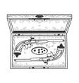 vintage pistols sketch vector image