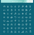 water icon set in thin line style symbol vector image