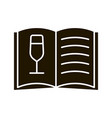 wine menu glyph icon vector image
