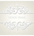 Vintage paper frame with shadow vector image