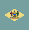 flag of delaware vector image