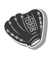 silhouette glove baseball icon isolated vector image