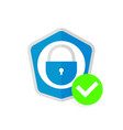 abstract security icon vector image vector image