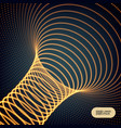 abstract tunnel grid futuristic technology style vector image