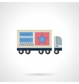 Advertisement on trucks flat color icon vector image