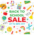 back to school sale for poster