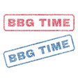 bbg time textile stamps vector image vector image