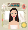 beautiful young woman relaxing at spa salon look vector image vector image