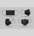 black medical face mask vector image