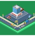 Business Center Isometric vector image vector image