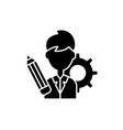 business consultant black icon sign on vector image vector image