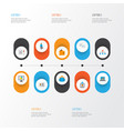 business icons flat style set with wallet vector image vector image
