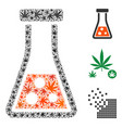 chemistry collage of cannabis vector image