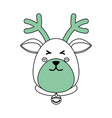 christmas reindeer cartoon vector image