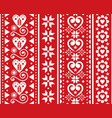 christmas seamless vertical pattern vector image vector image