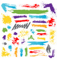 collection colorful paint brush ink vector image vector image