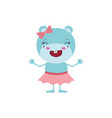 colorful caricature of cute expression female vector image vector image