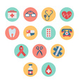 Colorful medical icon set in trendy flat style vector image vector image