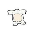 comic cartoon polar bear body vector image vector image