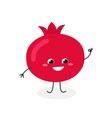 cute cartoon pomegranate vector image