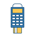 dataphone credit card payment device concept vector image