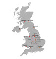 detailed map united kingdom vector image