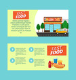 fast food horizontal flyers vector image vector image