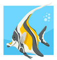 funny cartoon fish animal character vector image vector image