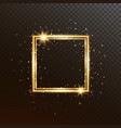 glow square frame gold luxury banner isolated on vector image