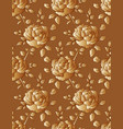 golden roses seamless floral pattern vector image vector image