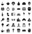 great bounty icons set simple style vector image vector image