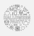 halloween party thin line round modern vector image vector image