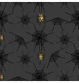 Halloween spider net pattern vector image vector image