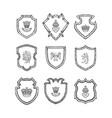 hand drawn heraldics vector image vector image