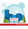Hospital building icon in the flat style vector image