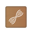 human dna genetics icon on wooden blocks isolated vector image