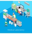 Isometric Laboratory Analysis with Medical Staff vector image vector image