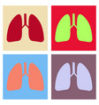 lungs icon flat style internal organs of the vector image vector image