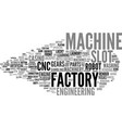 machine word cloud concept vector image vector image