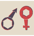male and female signs vector image vector image