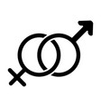 male and female symbols solid icon gender sign vector image vector image