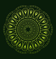 mandala classic mystical ornament green background vector image vector image