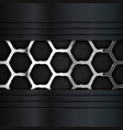 metal background hexagonal pattern vector image vector image