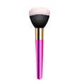 pink make-up brush vector image vector image