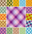 plaid patterns vector image