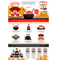 poster for japanese sushi restaurant vector image vector image