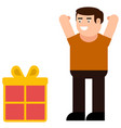receive a gift icon vector image vector image