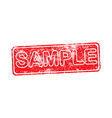 sample red grunge rubber stamp vector image vector image